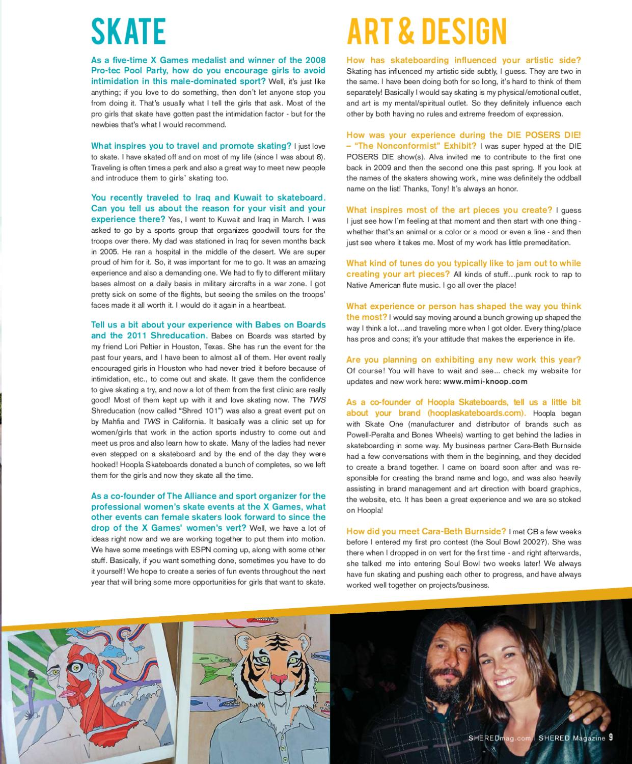 vol 10 no 2 by concrete wave magazine issuu - What Inspires You What Influenced You The Most