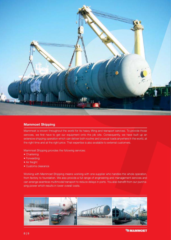 Mammoet Middle East brochure