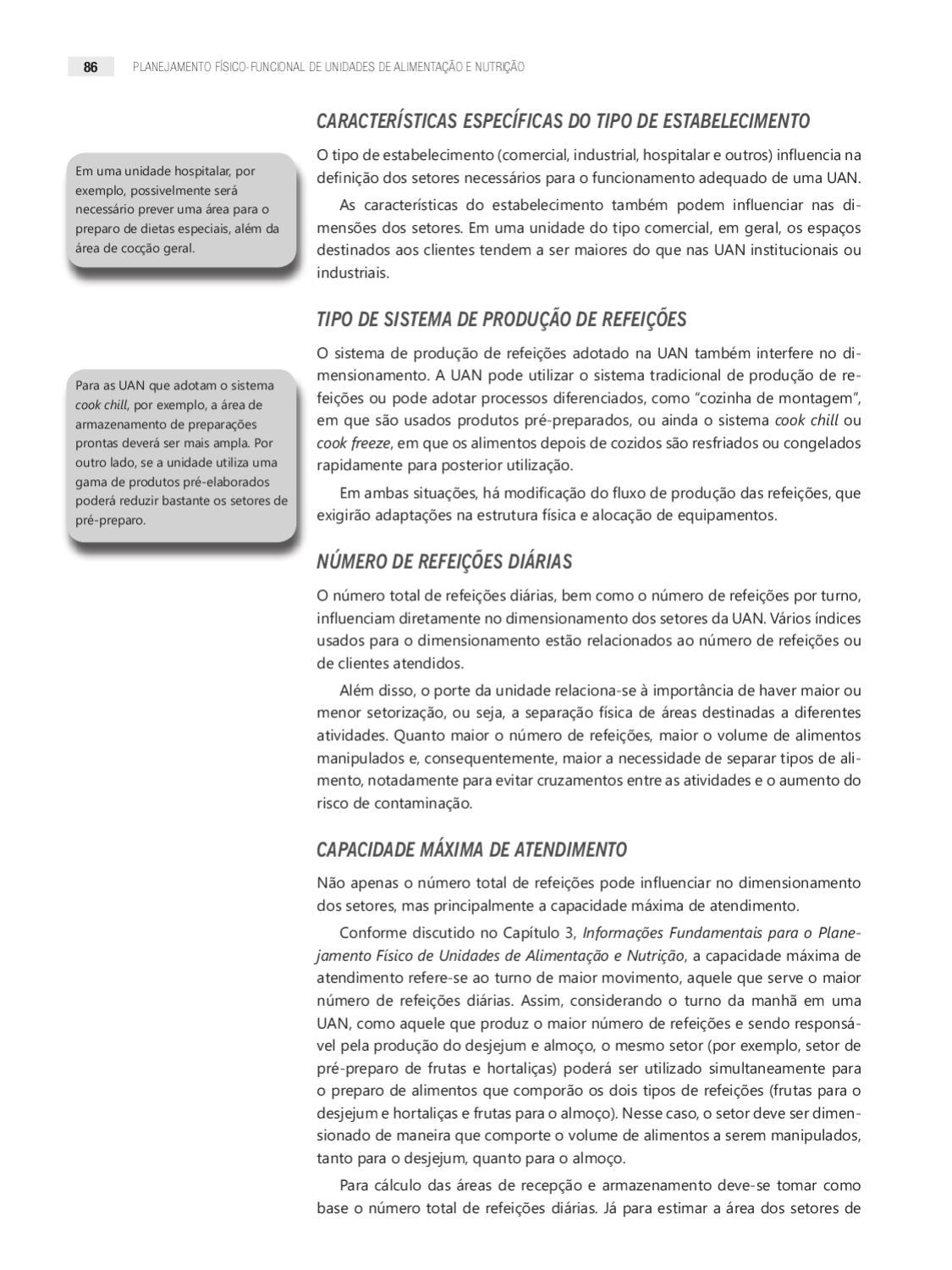 Planejamento Físico Funcional De Unidades De Alimentação E