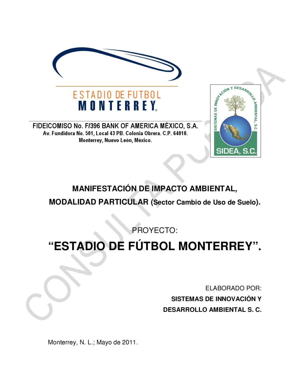 Manifestación de Impacto Ambiental proyecto Estadio de Fútbol Monterrey by  Colectivo Ciudadano en Defensa de La Pastora - issuu 222ef91e659