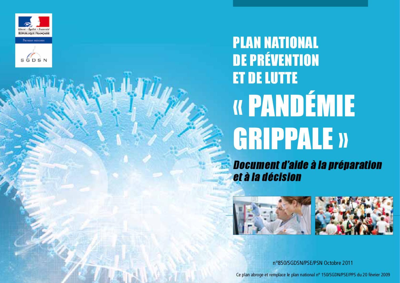 Vignette document Plan national de prévention et de lutte pandémie grippale. Document d'aide à la préparation et à la décision