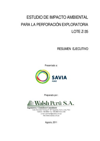 Estudio de Impacto Ambiental para la Perforación Exploratoria ...