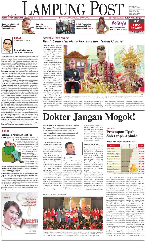 Lampung Post Edisi Jumat 25 November 2011 By Lampung Post Issuu
