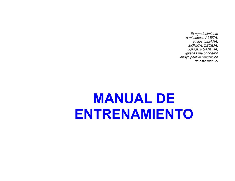 Manual del Entrenamiento Deportivo by Leonardo Toro - issuu