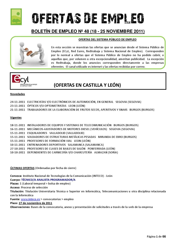 BOLETIN DE EMPLEO Nº 48 by AEDL MIC - issuu