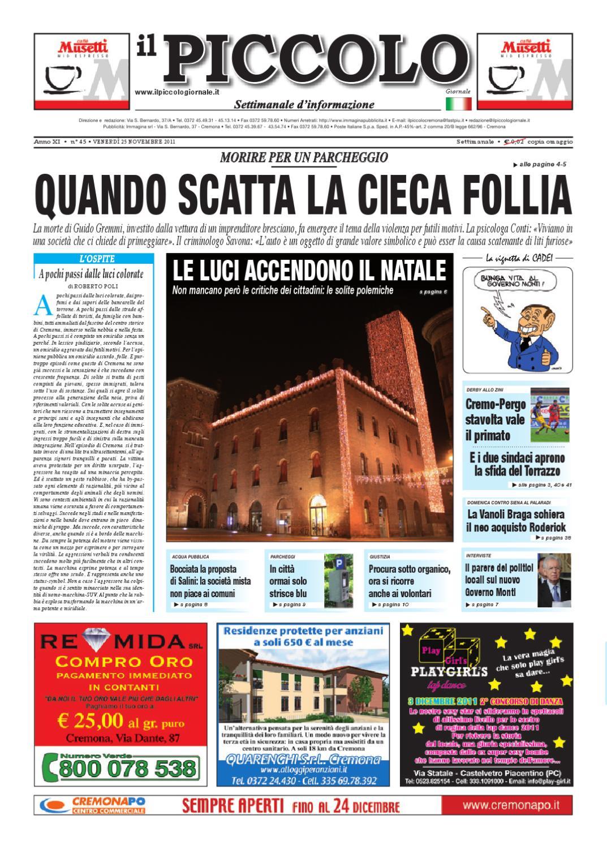 Il PIccolo Giornale di Cremona by promedia promedia - issuu f97d7b9b661