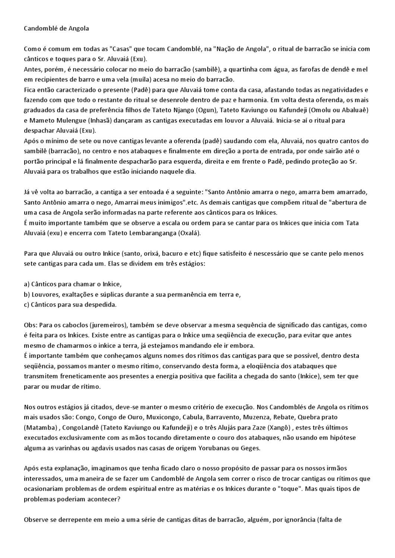 BAIXAR ANGOLA DE CANTIGAS CANDOMBLE