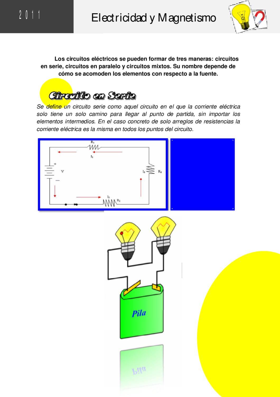 Circuito Serie Y Paralelo : Electrodinámica ley de ohm asociación de resistencias en serie y