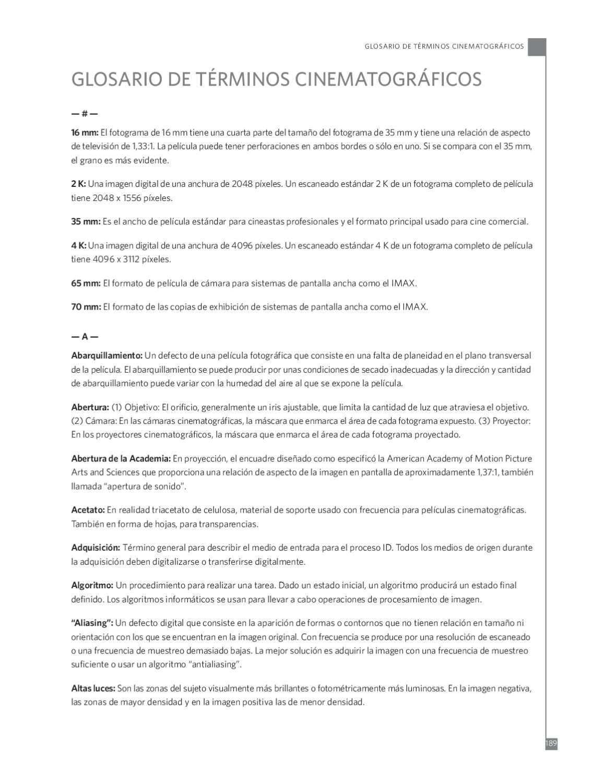 GLOSARIO DE TÉRMINOS CINEMATOGRÁFICOS by Casting-Virtual Directorio ...