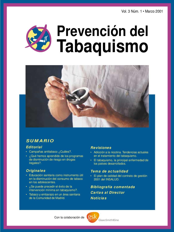 Prevención del Tabaquismo. v3, n1, Marzo 2001. by SEPAR - issuu