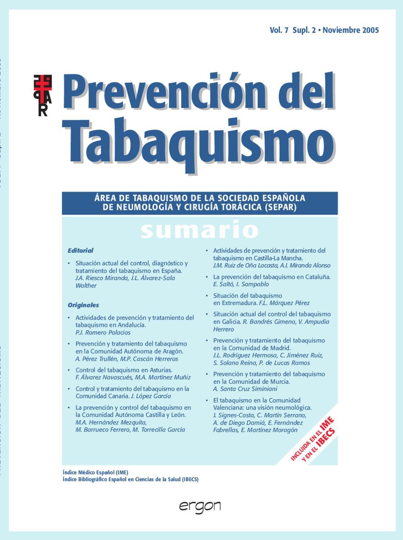 Prevención del Tabaquismo. v7, sup2, Noviembre 2005. by SEPAR - issuu