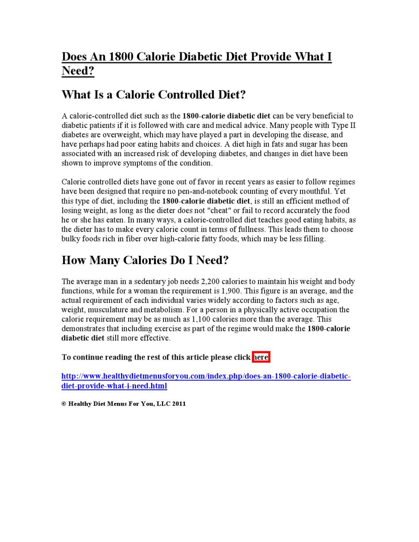 menu dietetico diabetico 1800 calorie