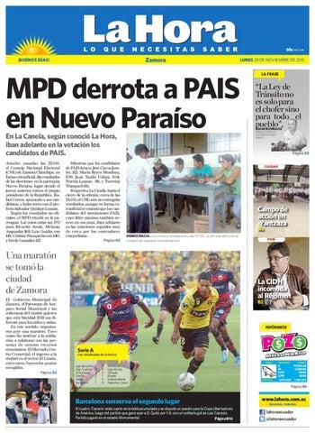 Diario La Hora Zamora 28 de Noviembre 2011 by Diario La Hora Ecuador ... 47d60cb308ec7