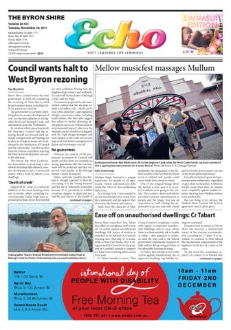 64954cee4cdea Byron Shire Echo – Issue 26.25 – 29 11 2011 by Echo Publications - issuu