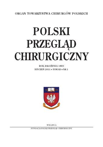 Nr12011 By Polski Przegląd Chirurgiczny Ppch Issuu