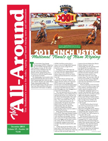 All Around-December 2011 by Western Sports Publishing - issuu 0c9eeed8ec56