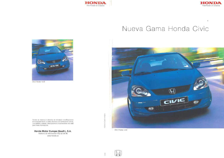 CIVIC 2001-2005 restyling by Honda Motor Europe España - issuu