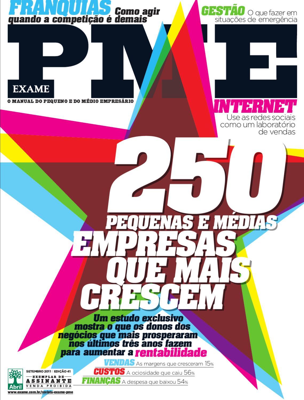 c27447e7717bb Revista EXAME PME - Edição 41 by Revista EXAME - issuu