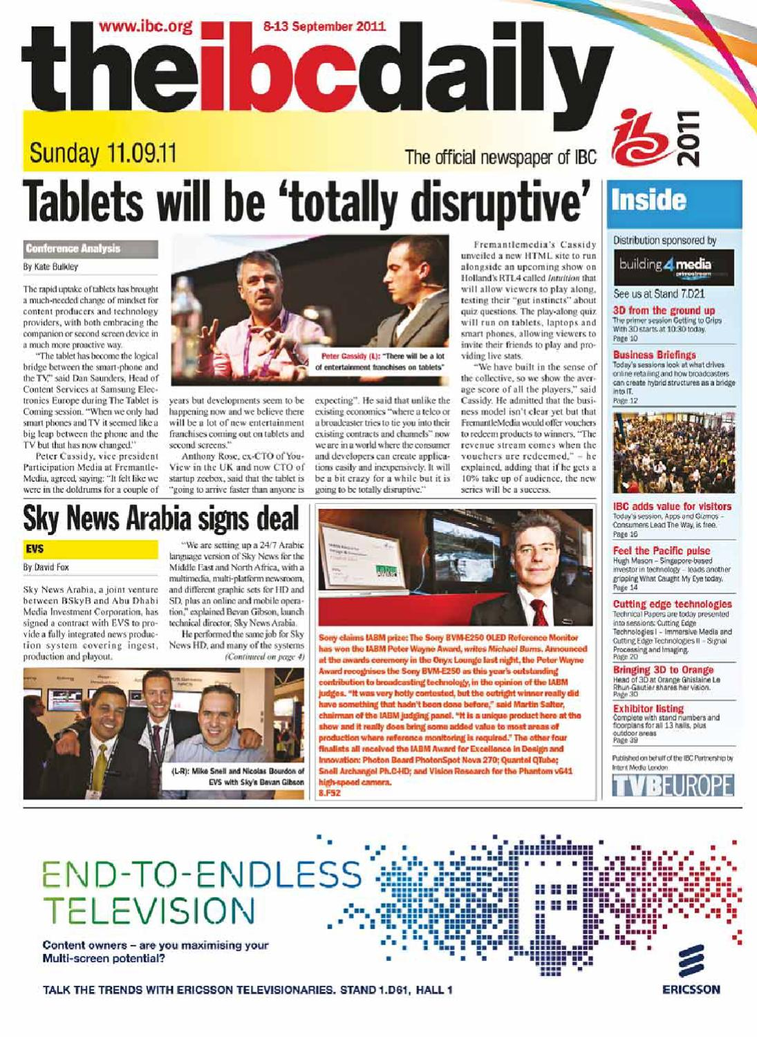 The IBC Daily 2011 – 11/9/11 Issue by Intent Media (now Newbay Media