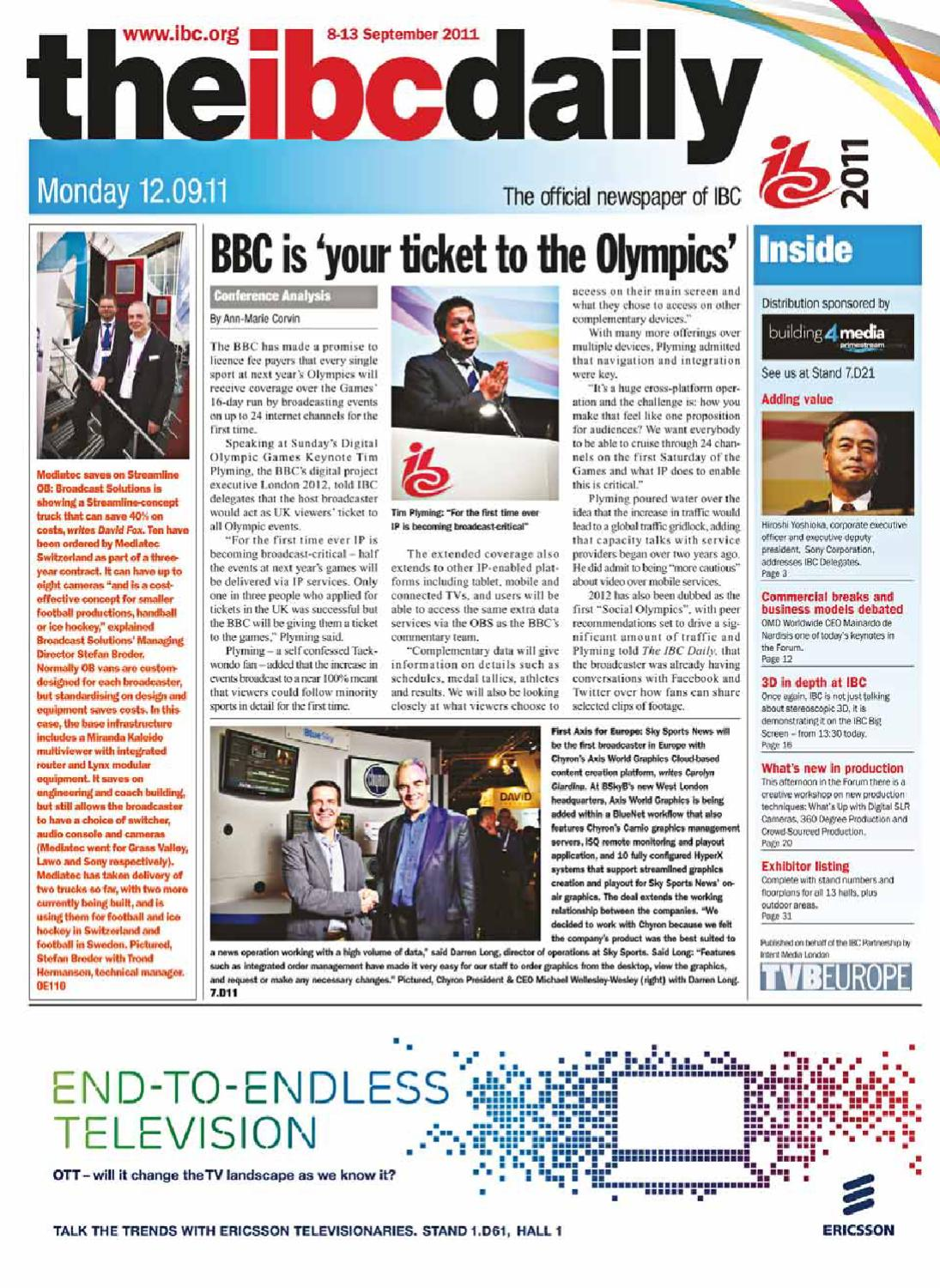 The IBC Daily 2011 – 12/9/11 Issue by Intent Media (now