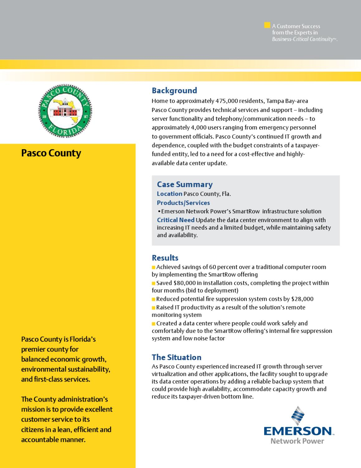 Pasco Case by Emerson Network Power - issuu