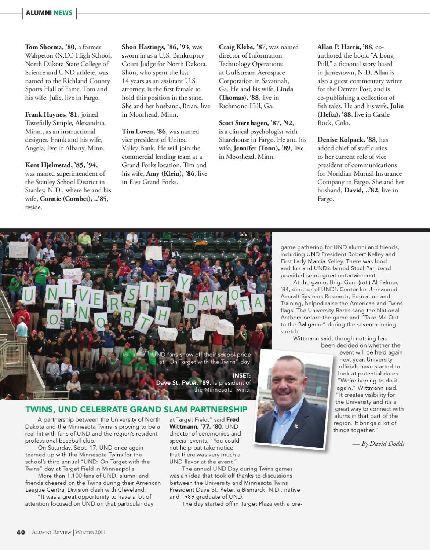 UND Alumni Review: Career Pros by UND Alumni Association - issuu