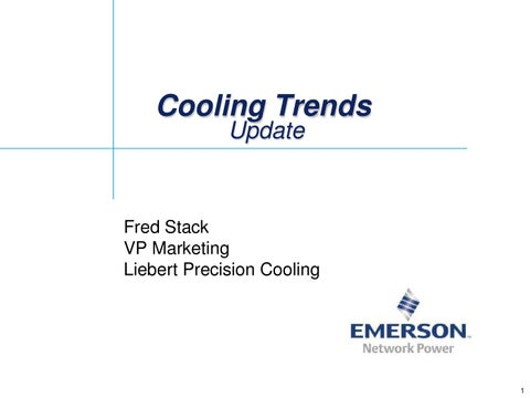 data center cooling update by emerson network power issuu page 1