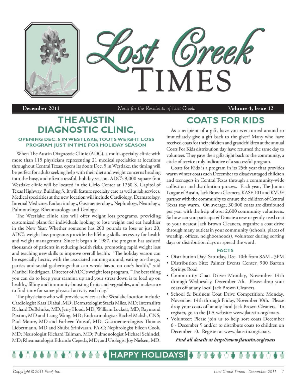 Lost Creek - December 2011 by Peel, Inc. - Issuu