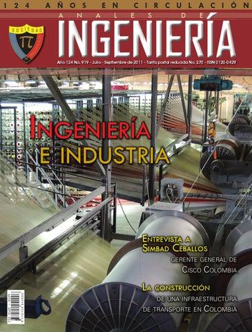 Ingenieria Industrial Edicion 919 By Sociedad Colombiana De