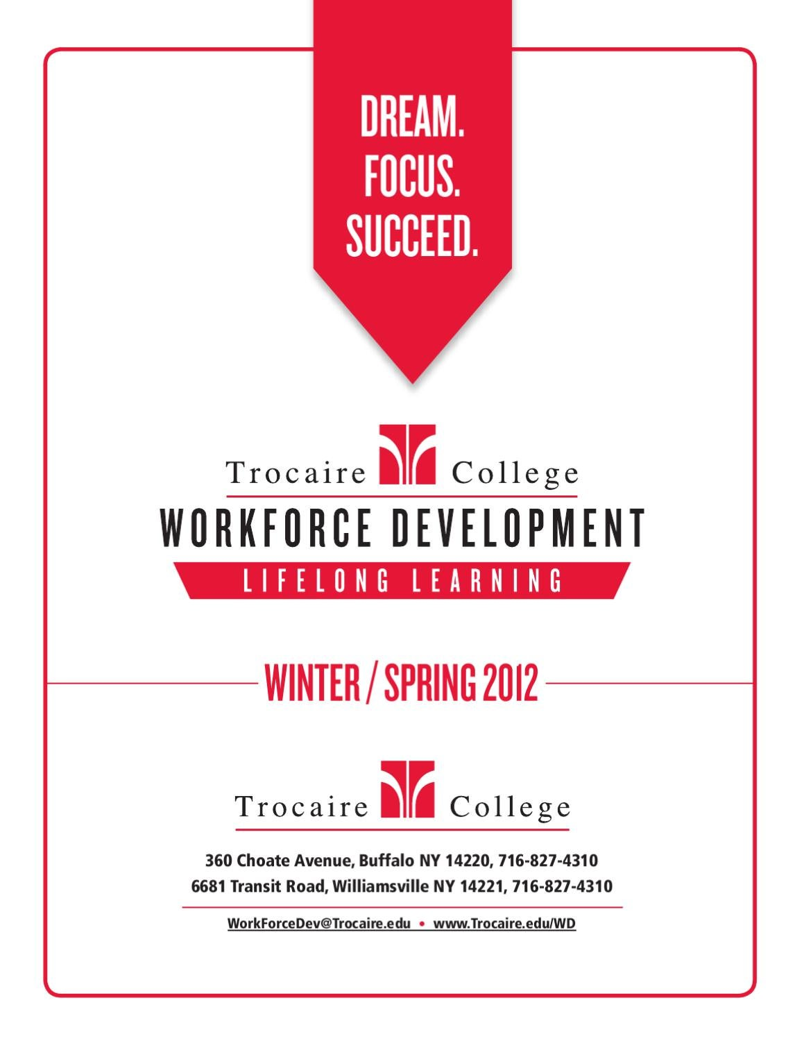 Winterspring 2012 workforce development catalog by trocaire winterspring 2012 workforce development catalog by trocaire college issuu xflitez Choice Image