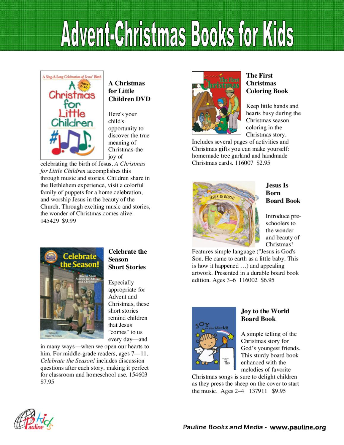 christmas for kids by pauline books and media issuu - Is 711 Open On Christmas