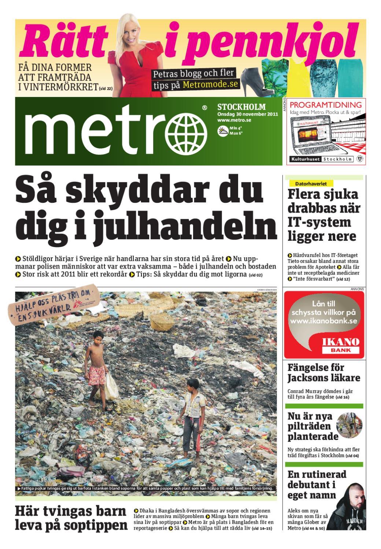 20111130 se stockholm by Metro Sweden - issuu 5f69d71047456