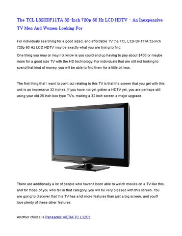 The TCL L32HDF11TA 32-Inch 720p 60 Hz LCD HDTV - An Inexpensive TV