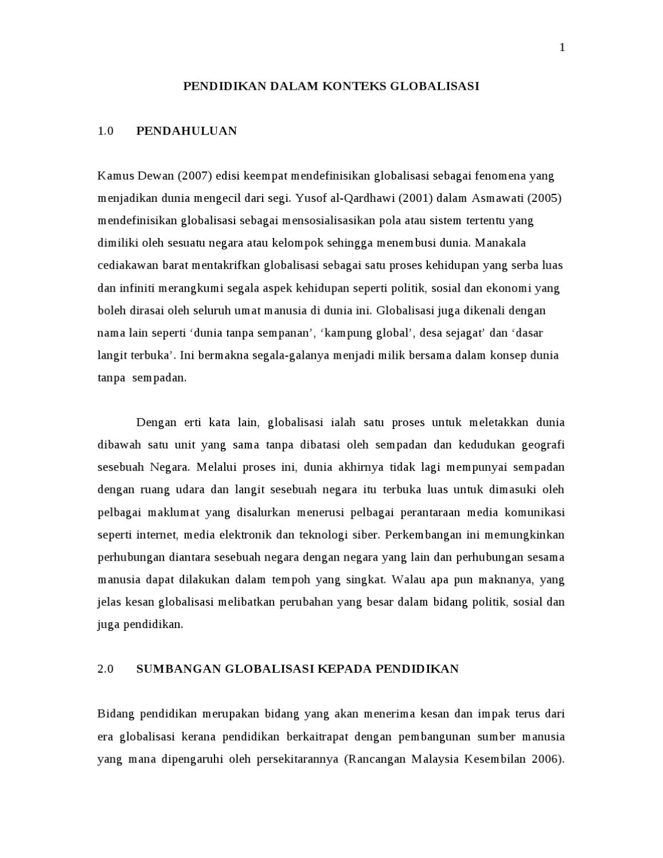 Globalisasi Dalam Konteks Pendidikan By Jamailia Jumahari Issuu