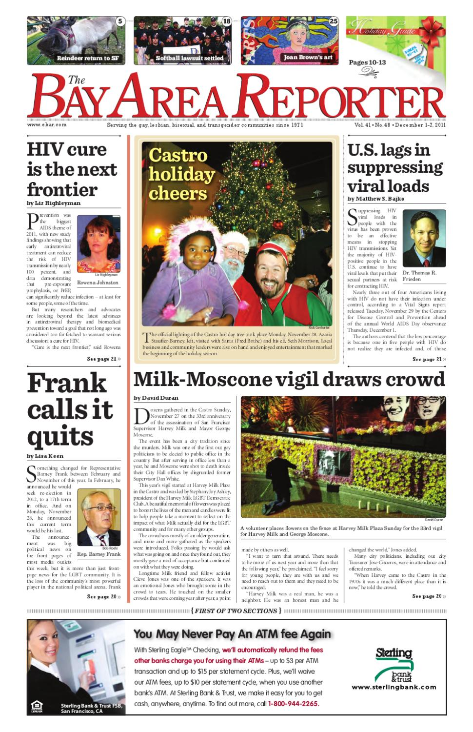 December 1, 2011 edition of the Bay Area Reporter by Bay Area Reporter -  issuu