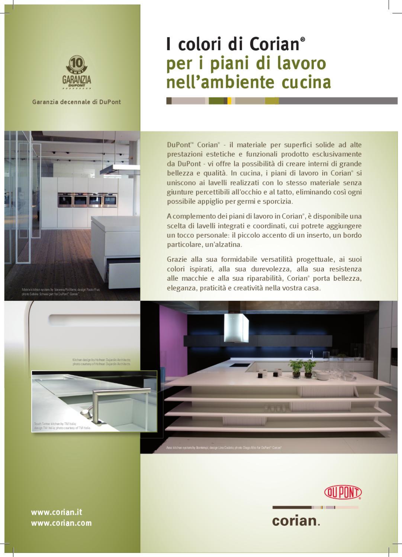 Corian Colori Cucina By Techlab Italia Issuu