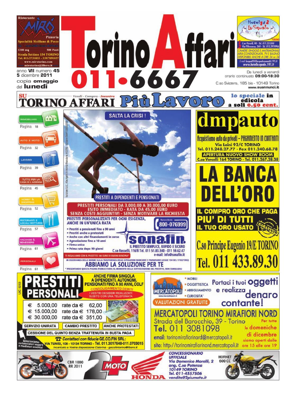 Torino Affari 01 Dicembre 2011 By Giuseppe Contegreco Issuu