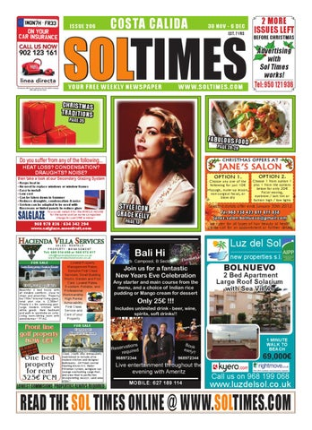 f92c9319c Sol Times Newspaper issue 206 Costa Calida Edition by nigel judson ...