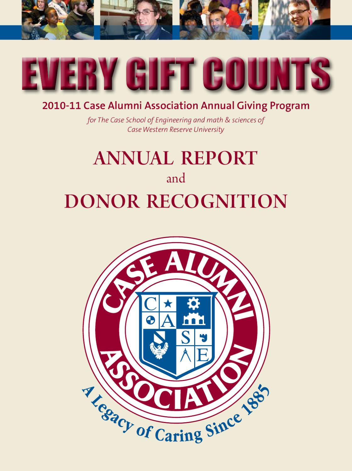 Annual Report and Donor Recognition by Case Alumni Association - issuu