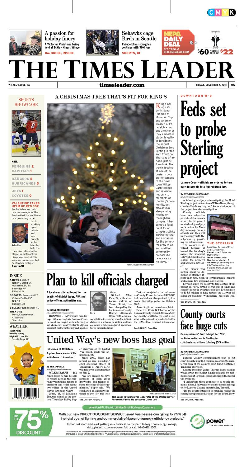 Times Leader 12-02-2011 by The Wilkes-Barre Publishing Company - issuu e126200a4