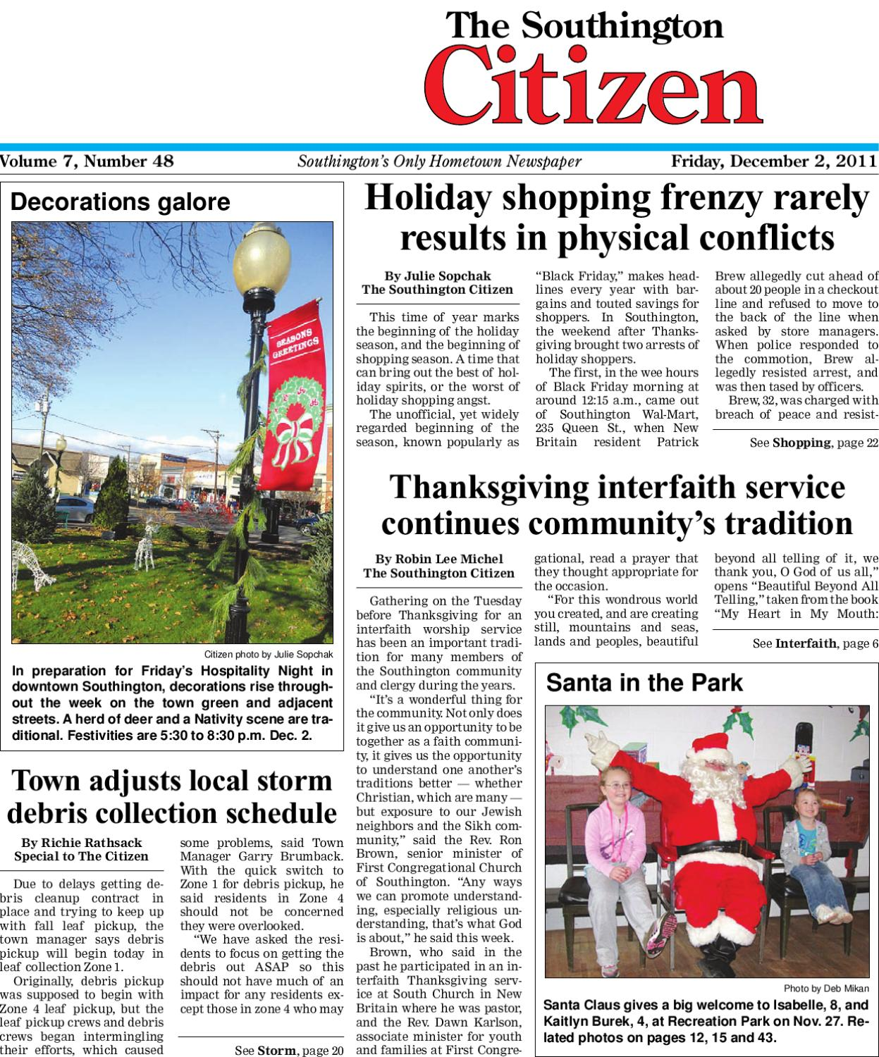 12 2 2011 southington citizen by dan champagne issuu