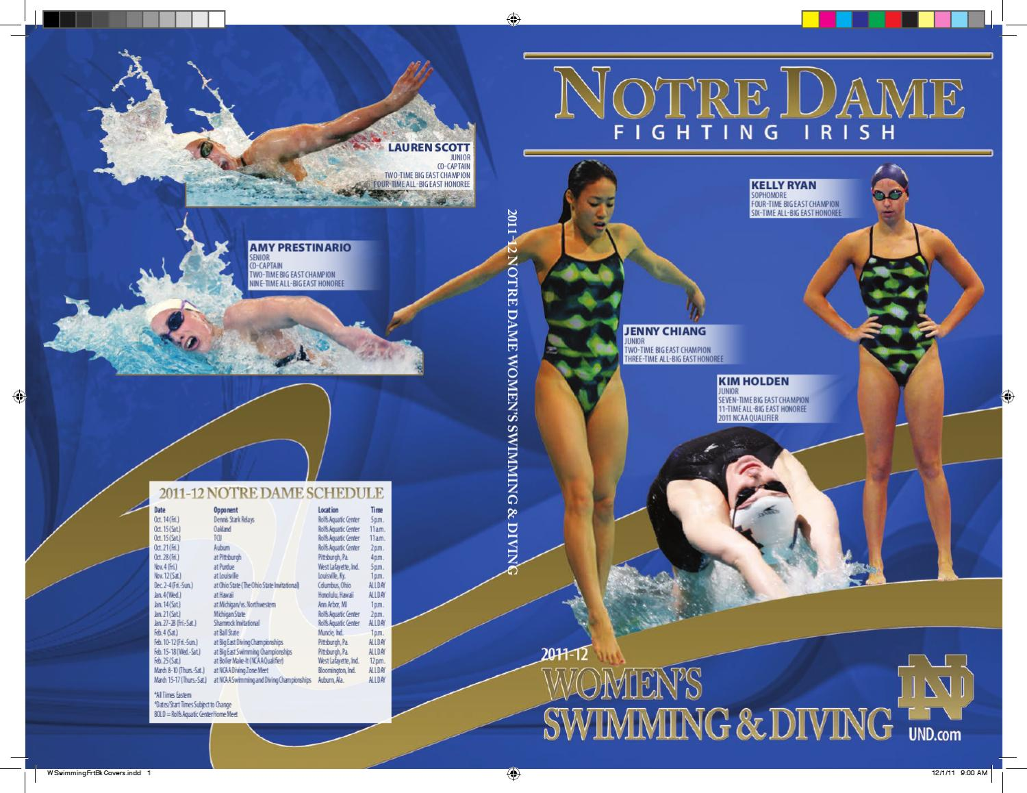 9fb04868f84 2011 Notre Dame Women s Swimming   Diving Media Guide by Chris Masters -  issuu