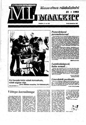 5407b7946f6 Maaleht 21.05.1992 by Kalev Türk - issuu