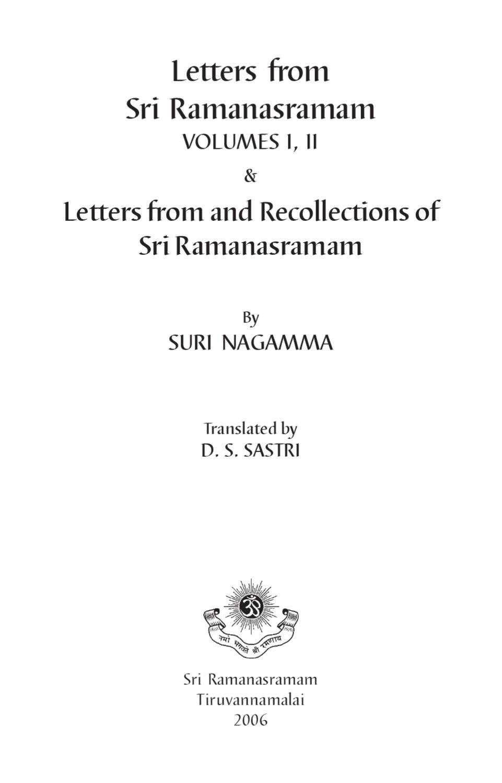 Letters Full Part 1 Ramana Maharsi By Ramana Maharsi Issuu