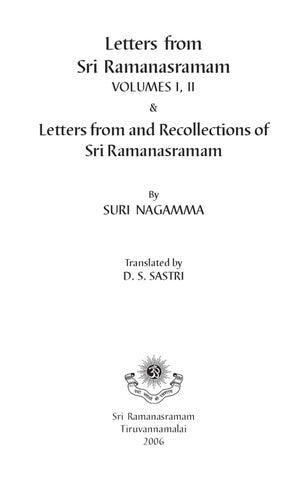 Letters Full Part 1- Ramana Maharsi by Ramana Maharsi - issuu