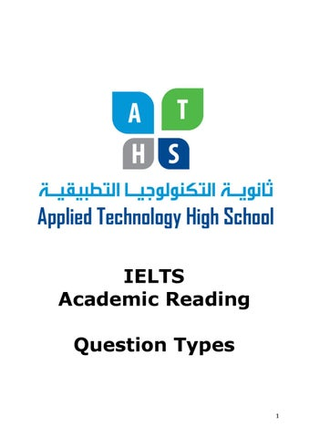 IELTS Academic Reading - Questions Types
