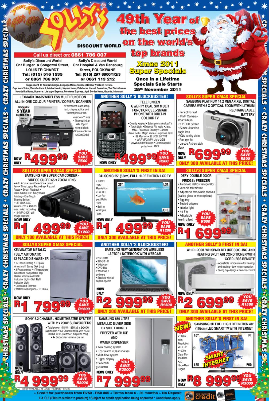 Sollys Christmas Cataloge Dec2011 By Discount World Issuu Defy 700 Gemini Ceran Hob With Control Panel Black