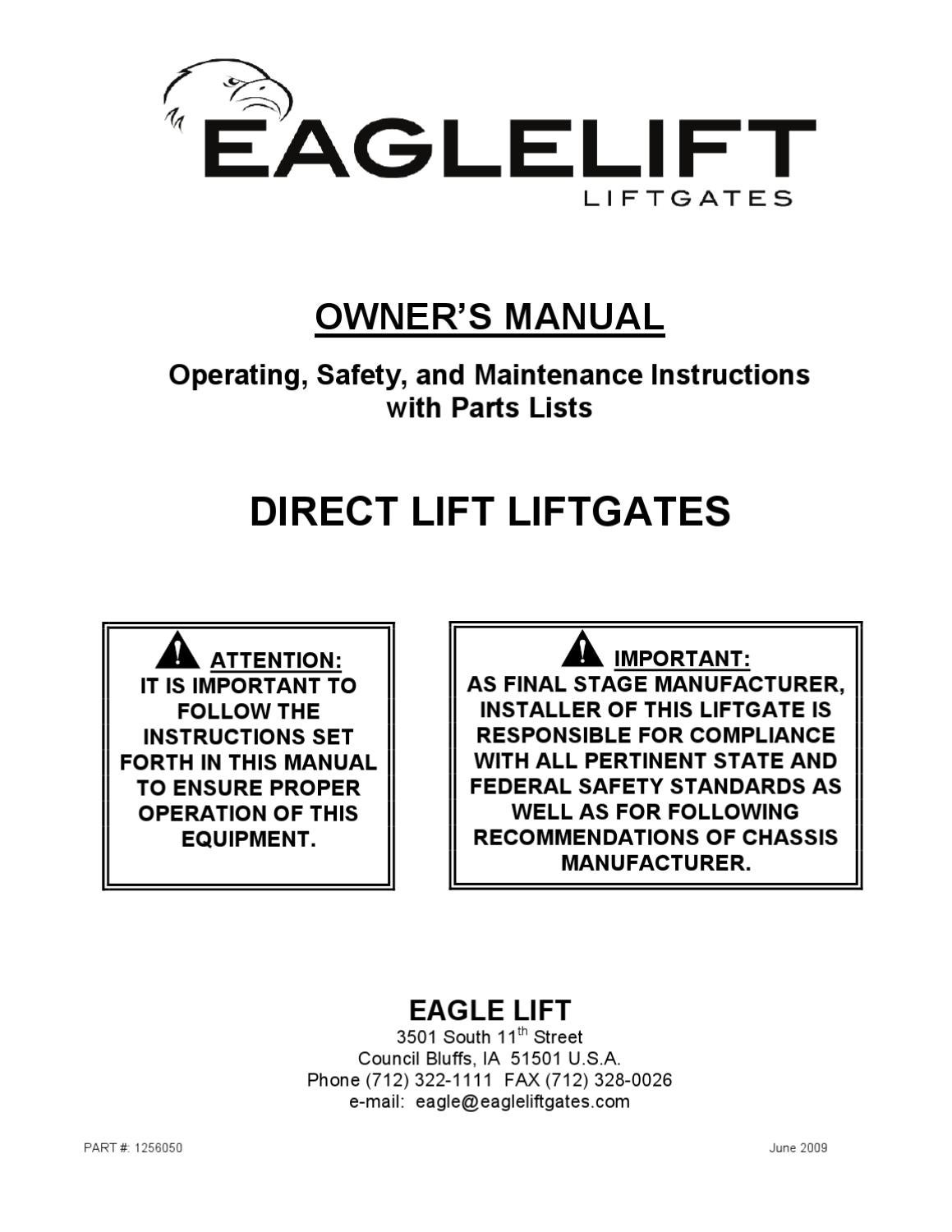 Eagle Lift Gate Truck Wiring Diagrams Opinions About Diagram Waltco Liftgate Eaglelift Edl Series Manual By The Parts Co Issuu Rh Com Maxon Column Catalog