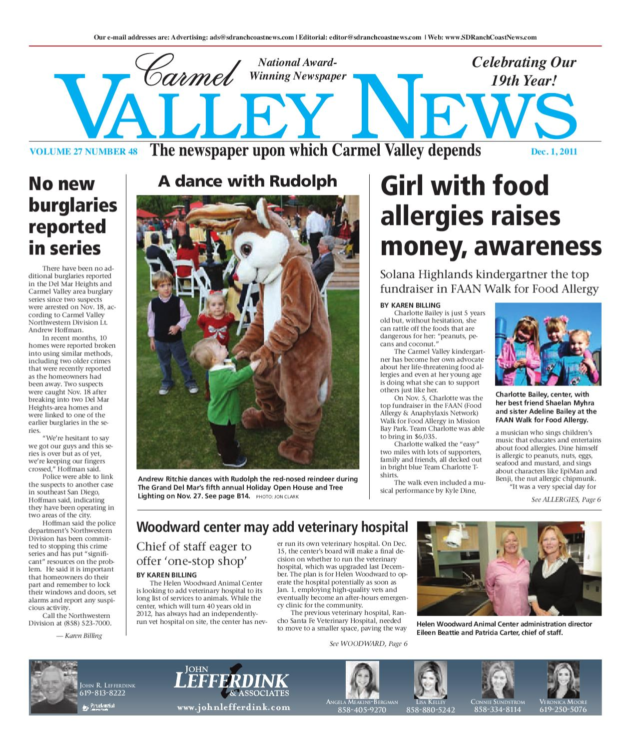 265f5a1769 12-1-2011 Carmel Valley News by MainStreet Media - issuu