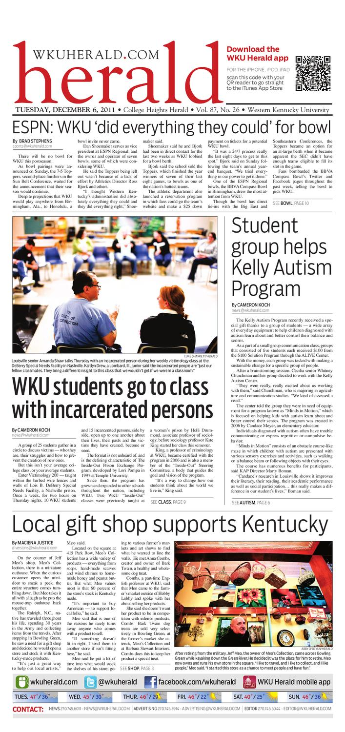 8bd2a4a3f0 Dec. 6, 2011 College Heights Herald by College Heights Herald - issuu